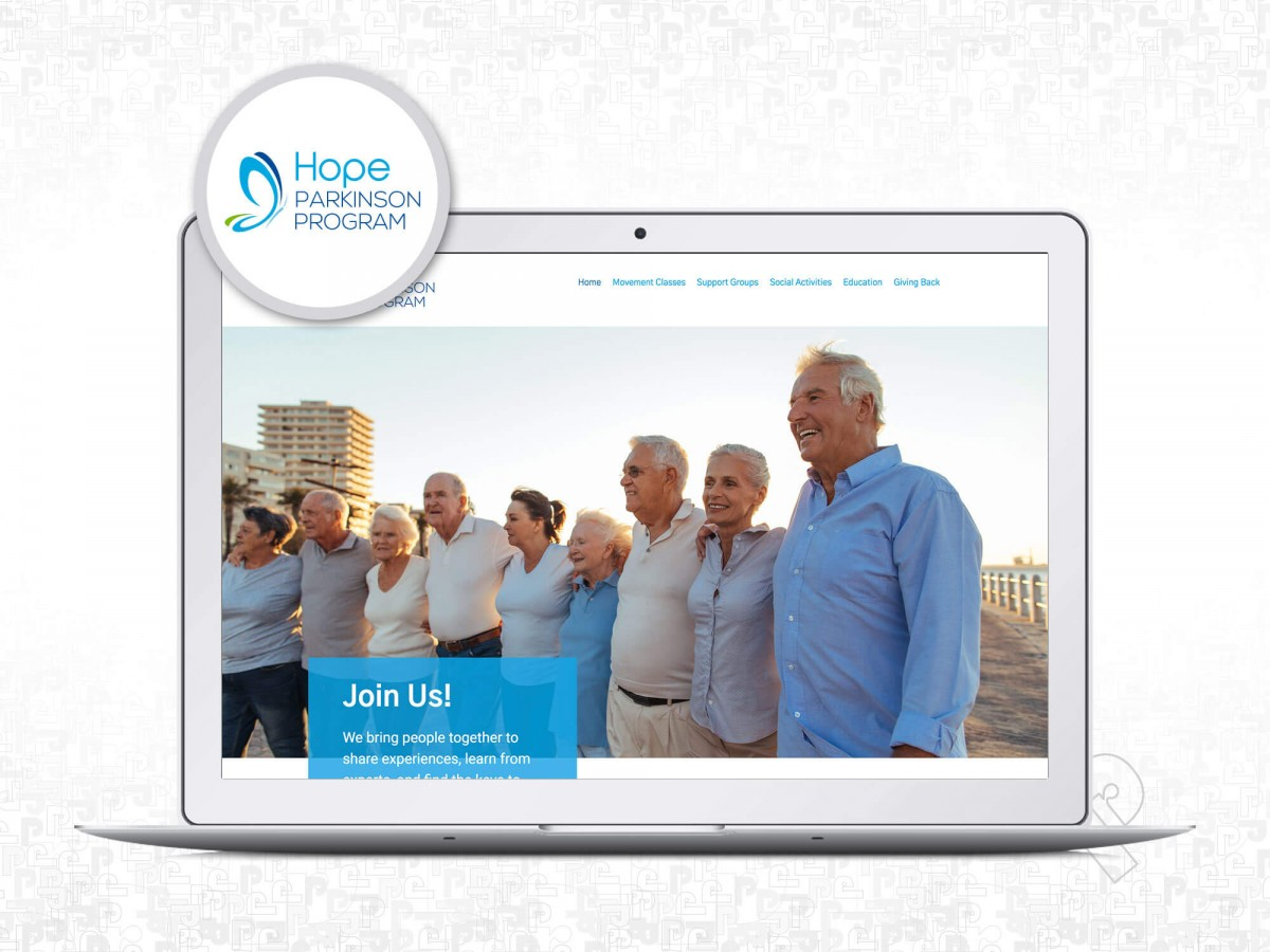 Hope Parkinson Program Website Designed by Priority Marketing