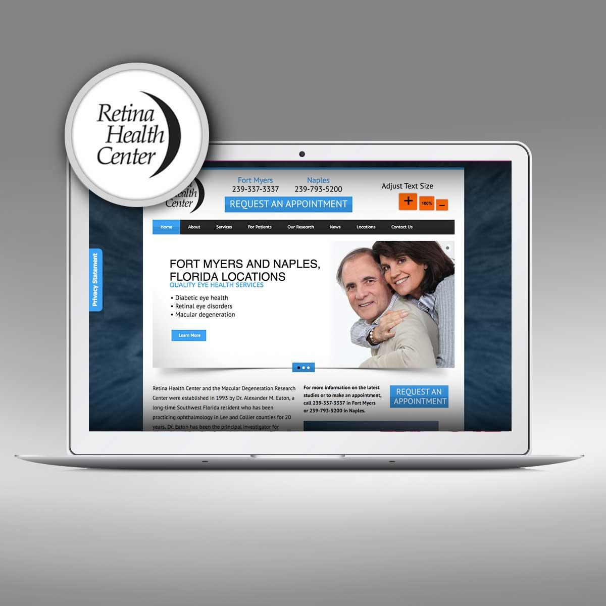 Retina Health Center Website by Priority Marketing