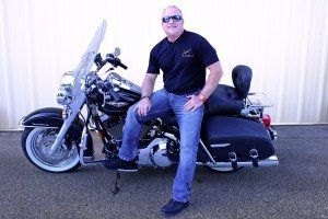 Mark Loren with 2005 Road King Harley Davidson