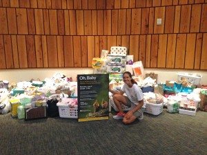 Photo 1 - Jordan Findley with donations