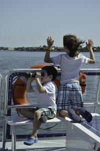 Boys explore on the the MV Edison Explorer