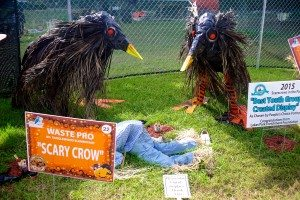 "2015 Best Youth Created Display/Sponsor - ""Scary Crow"""