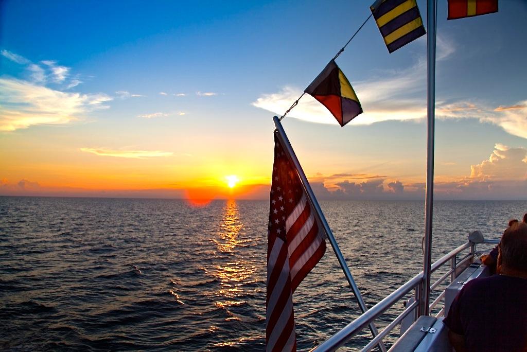 Pure Florida Sunset Flag