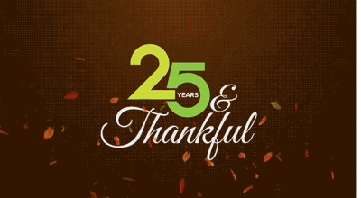 25 Years & Thankful Priority Marketing Anniversary Southwest Florida Advertising Agency