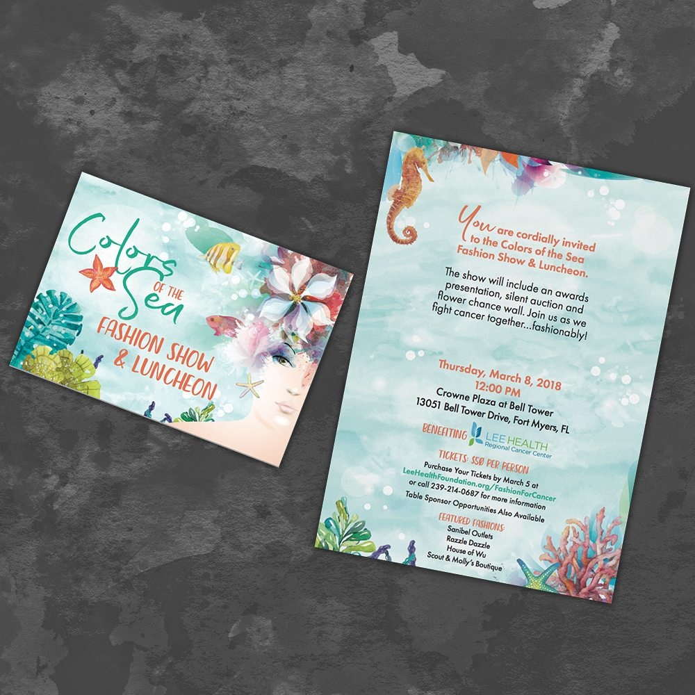 LeeHealth Colors of the Sea Fashion Show Invitation