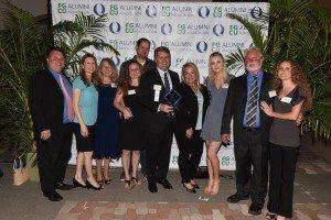FGCU's 2018 Alumni of Distinction Michael Wynn with his family