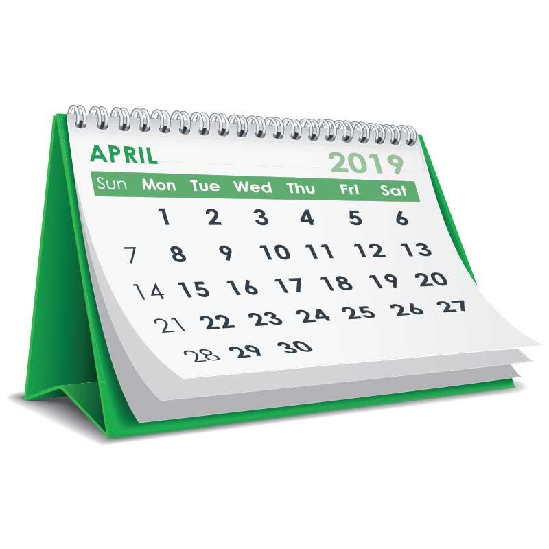 April Calendar Graphic
