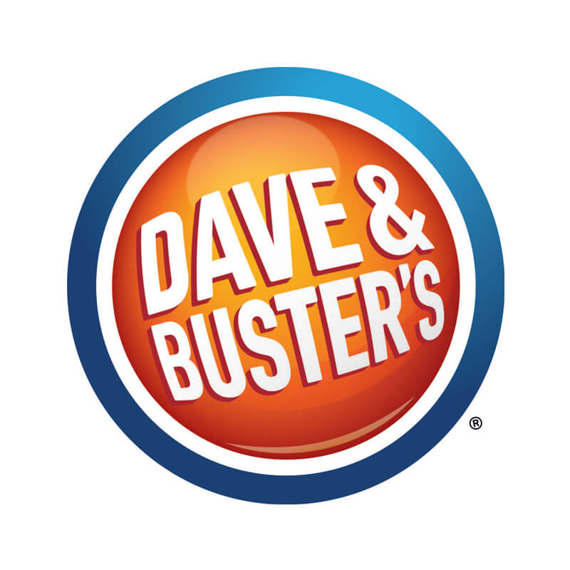 Dave & Busters Logo Client of Priority Marketing