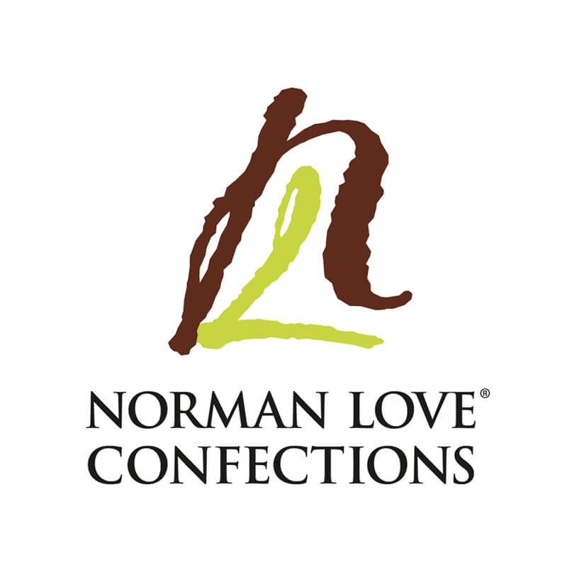 Norman Love Confections Logo Client of Priority Marketing