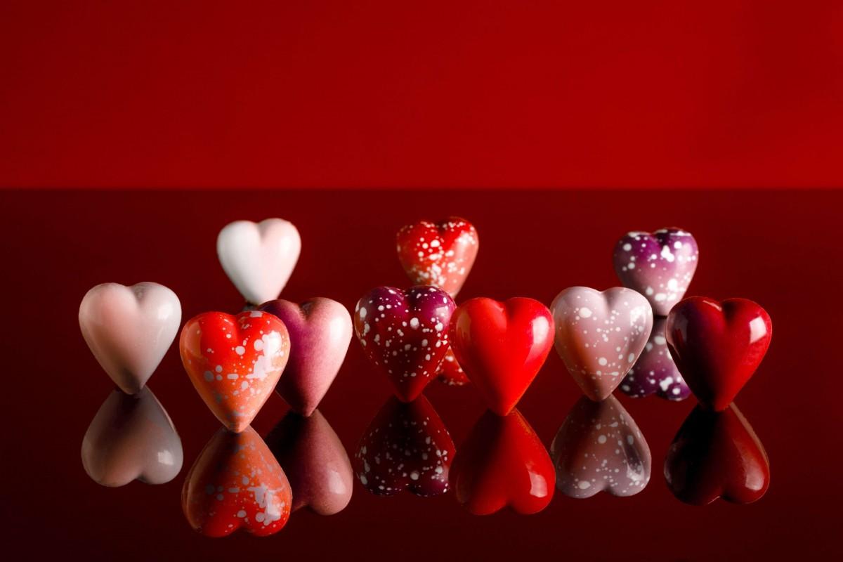 Norman Love Valentines chocolate hearts