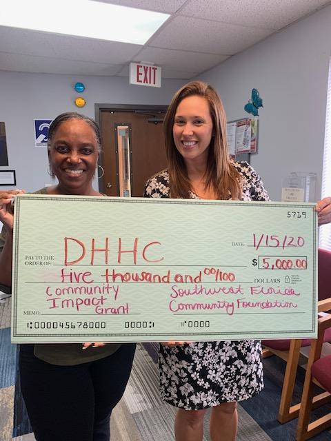 DHHC check presentation