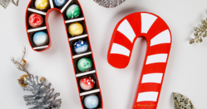 Norman Love Chocolates in Candy Cane Box